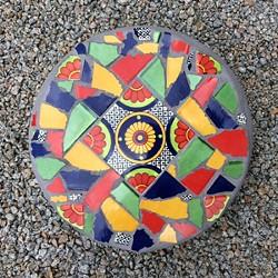 Learn mosaic basics to create a stepping stone. - Uploaded by Joan Martin Fee