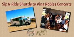 Sip & Ride Shuttle to Vina Robles Concerts with Toast Tours - Uploaded by Toast Tours