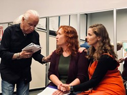 Bob Larson, Angi Herrick and Jordan Mills rehearse OCT's production of Haunting of Hill House - Uploaded by Barb Alan Kate Sutterfield