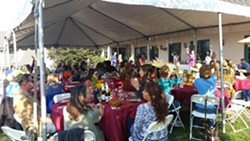 2018 vegan Fall Feast under the lovely tent - Uploaded by Peggy Koteen