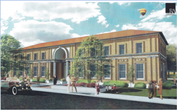 Architectural Rendering of the historic Atascadero Printery Building courtesy of RA Architects & Engineers - Uploaded by Christine Moser