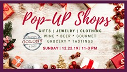 Pop-Up Shops - Holiday Shopping Event - Uploaded by Joanna Wemple