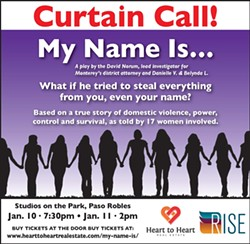 Based on a true account of domestic violence...My Name is... - Uploaded by Liz Lee