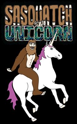 Sasquatch on a Unicorn - Uploaded by Carlton Atascadero