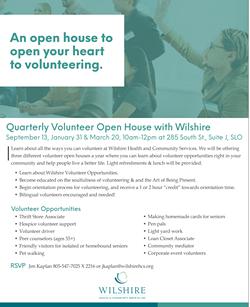 Wilshire Volunteer Opportunities - Uploaded by Jen Brogno Kaplan