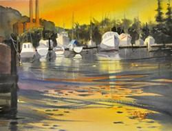 Sunset at Moss Landing - Uploaded by Mari O'Brien