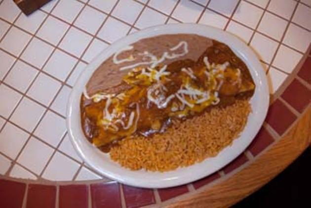 Burrito Plate.  mh