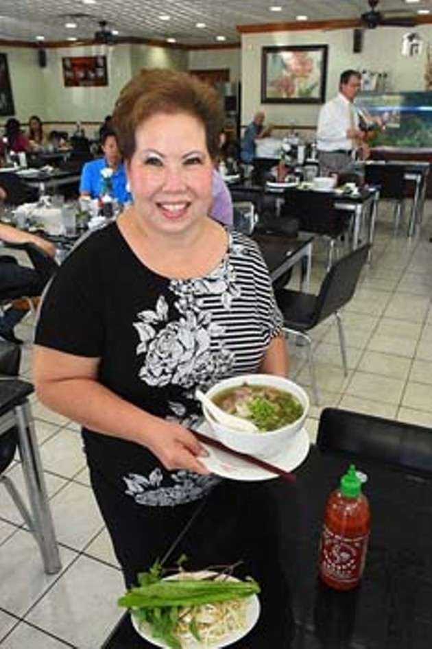 Yes, it's Lein Hoa, owner of Pho Lein Hoa, with the P1, Small Bowl of Pho of course.  mh