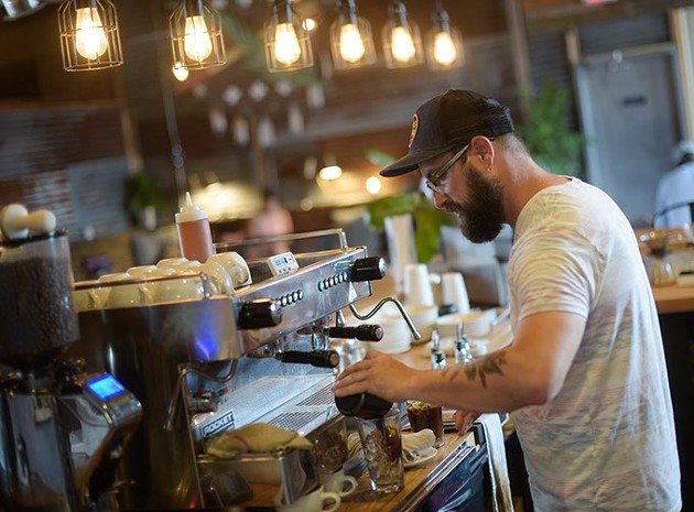 Owner Chad Grubbs opened Okay Yeah Co. with a vision of reinvigorating the local coffee shop scene. | Photo Garett Fisbeck