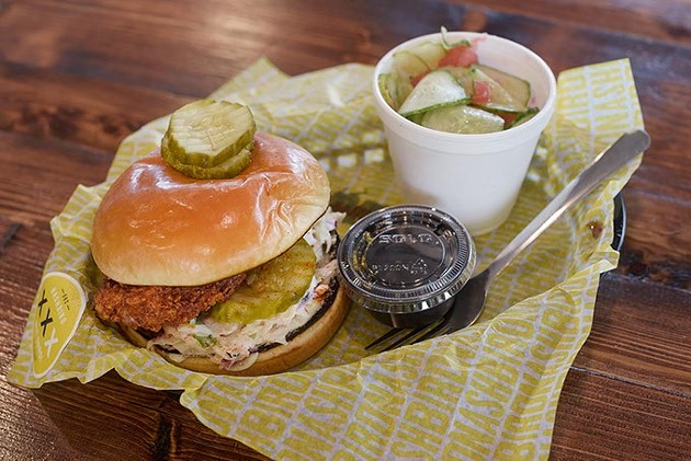 Nashbird's chicken sandwich comes with lemon coleslaw. | Photo Garett Fisbeck