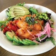 <i>Poke</i> at Chae Café tops either fish, spicy chicken or beef with Chae sauce.