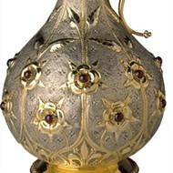 A claret jug designed by John Hardman Powell, manufactured by John Hardman & Co.