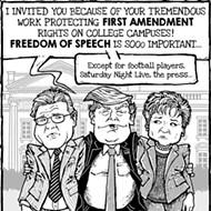 "Cartoon: ""Free speech"" impediment"
