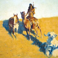 """The Sign of the Buffalo Scout"" by Frederic Remington"