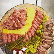 A meat and cheese plate from Lovera's Grocers in Krebs
