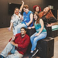 <i>clockwise from bottom</i> Johnlee Lookingglass, Summer Morgan, Cody Tabor, Tiffany Tuggle, Carolyn Dunn and Misty Red Elk take a break from rehearsing for <i>Neechie-Itas</i>, the featured play at Oklahoma Indigenous Theatre Company's 2019 Native American New Play Festival.