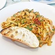 Smoked salmon pasta with sun-dried tomato cream pesto