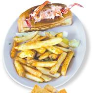 <i>from top</i> Slapfish's lobster roll; Slapfish <i>poke</i> bowl; the Epic Shrimp Burrito; the daily offering of fish in the Power Bowl included salmon, tilapia and shrimp; shrimp <i>ceviche</i>.