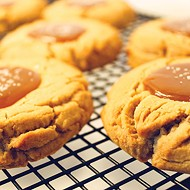 Peanut butter cookies topped with salted caramel at Sunshine Baking Company