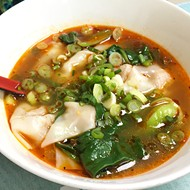 Spicy <i>wonton</i> soup from Yummy Noodles