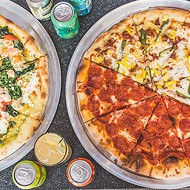 Pesto Dream; Hot, Hot, Heat; and Big Peppa pizzas at Notorious P.I.E.
