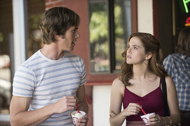 Left to right: Blake Jenner plays Jake and Zoey Deutch plays Beverly in Everybody Wants Some from Paramount Pictures and Annapurna Pictures. - VAN REDIN