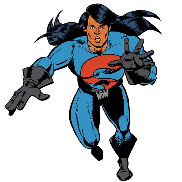 After eating tainted food, Hubert Logan gains superhuman abilities as Super Indian. (Arigon Starr / Provided)