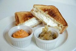 Grilled Cheese at Pierre Pierre Creperie in Oklahoma City, Monday, March 23, 2015. - GARETT FISBECK