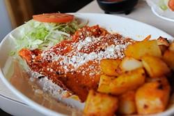 Enchiladas Mexicanas at Birrieria Diaz in Bethany, Monday, March 9, 2015. - GARETT FISBECK