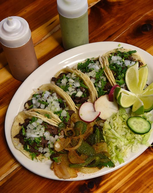 Tacos Calvillo at Abel's Mexican Restaurant, 5822 NW 50th Street in Oklahoma City, 12-15-15. - MARK HANCOCK