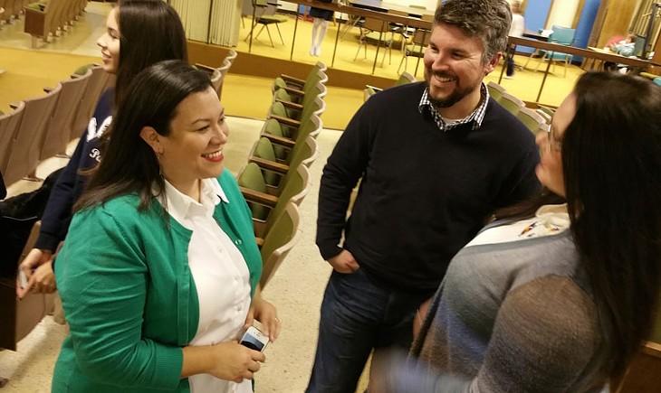Sarah Adams-Cornell, left, is with the Native American Parent Committee of the OKC school district. - BEN FELDER
