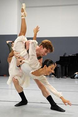 Callye Crespo and Walker Martin during a rehearsal of the Nutcraker in Oklahoma City, Sunday, Nov. 21, 2014. - GARETT FISBECK