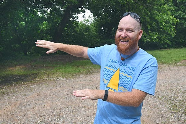 Penn Henthorn, camp director at Camp Dakani envites kids to come enjoy nature at Camp Dakani.  mh