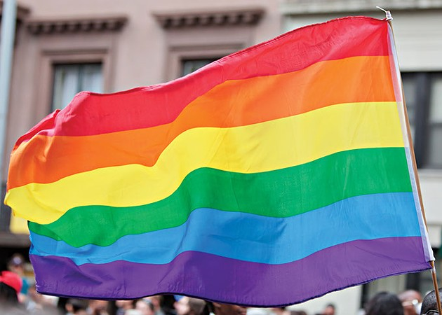 Rainbow Flag on the Pride Parade in New York City - BIGSTOCK