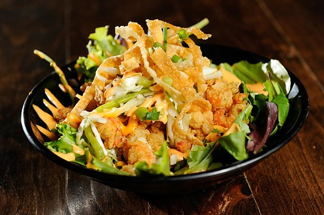Thunder boy salad at Hillbilly's in Oklahoma City, Tuesday, Dec. 8, 2015. - GARETT FISBECK