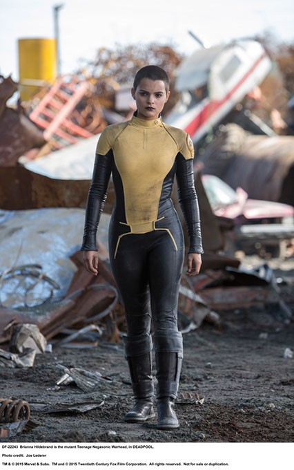 DEADPOOL - Brianna Hildebrand is the mutant Teenage Negasonic Warhead, in DEADPOOL. - Photo Credit: Joe Lederer - TM & © 2015 Marvel & Subs.  TM and © 2015 Twentieth Century Fox Film Corporation.  All rights reserved.  Not for sale or duplication. - JOE LEDERER