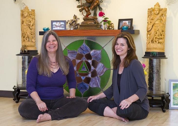 Martha McQuaid and Christina Forth at Spirit Yoga. - Photo by Shannon Cornman - SHANNON CORNMAN