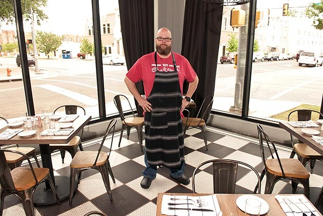 Packard's New American Kitchen chef Chris McKenna in the spacious dining area of Packard's Oklahoma Gazette's Downtown Restaurant Week presented by Downtown OKC, Inc. (DRW). (Mark Hancock / FILE)