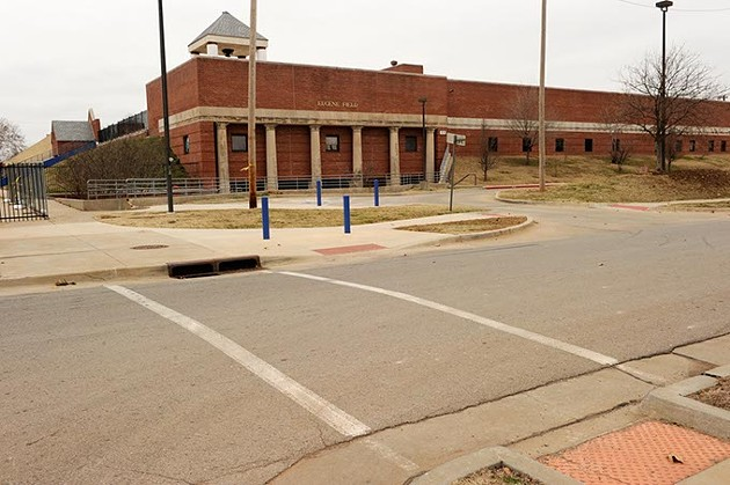 Crosswalk near Eugene Field Elementary in Oklahoma City, Tuesday, Dec. 30, 2014. - GARETT FISBECK