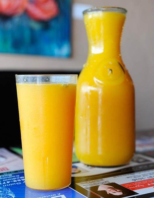 Fresh squeezed Orange Juice at Classen Grill in Oklahoma City, Friday, Sept. 18, 2015. - GARETT FISBECK