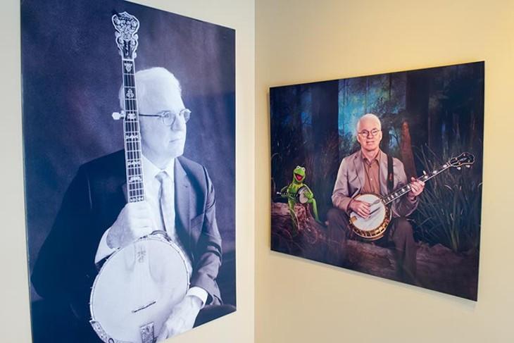 Steve Martin exhibit at the American Banjo Museum in Oklahoma City, Tuesday, Feb. 16, 2016. - GARETT FISBECK