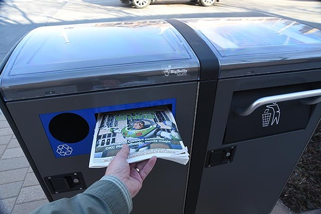 Recycle your old Gazettes in the Big Belly recycling station, just off NW 5th and Robinson Avenue near the Oklahoma City National Memorial.  mh