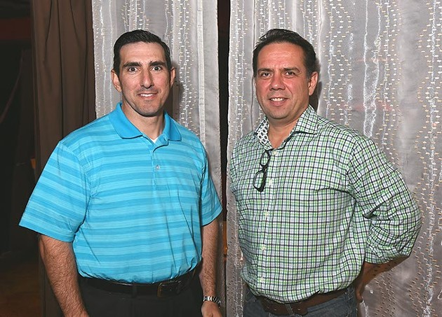 From left, Dale Cazes and Joe Jungmann will be partners in the new restaurant, Hopscotch. - MARK HANCOCK