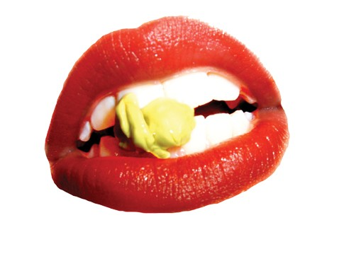 Rocky Horror Picture Show-esque mouth cutout - BIGSTOCK
