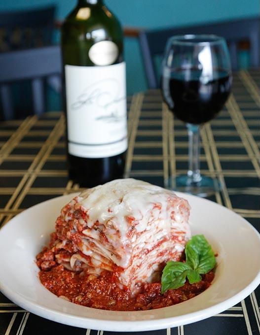 Meat lasagna at Caffe Pranzo in Oklahoma City, Wednesday, Aug. 26, 2015. - GARETT FISBECK