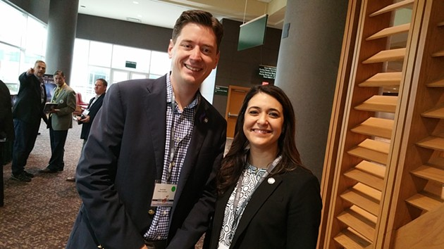 State senators David Holt and Stephanie Bice addressed the Southern Republican Leadership Conference on May 22. - BEN FELDER