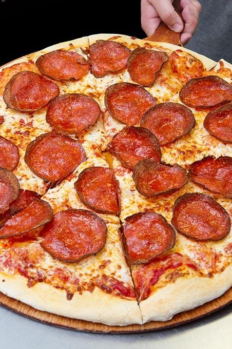 Pepperoni Pizza at Knuck's Wheelhouse.  sc