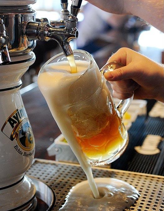 A liter of beer at Fassler Hall in Oklahoma City, Wednesday, March 11, 2015. - GARETT FISBECK