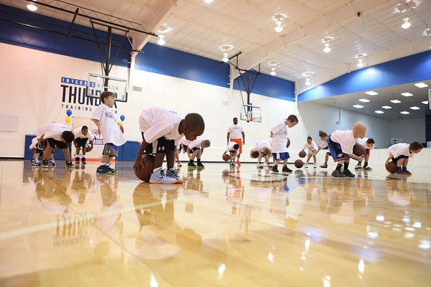 Youth participate in a camp hosted by the OKC Thunder. Photo provided