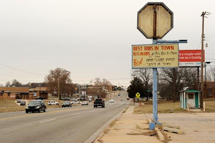 NE 15th and Martin Luther King in Oklahoma City, Dec. 31, 2014. - GARETT FISBECK